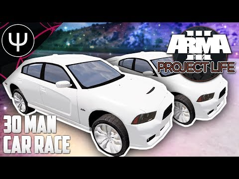 ARMA 3: Project Life Mod — 30 Man Car RACE!