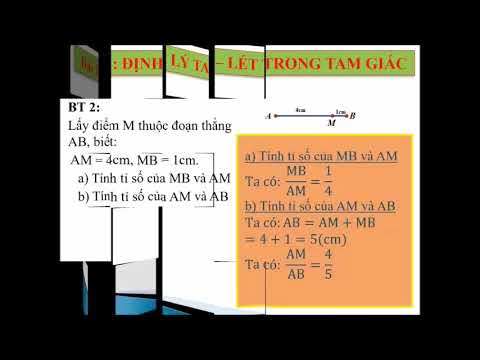 Toán 8 Chủ đề 2: Định lý Thales