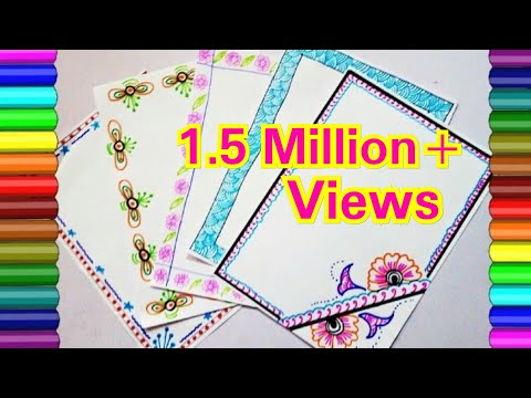 Project file pages decoration / border designs for school project / How to decorate project file