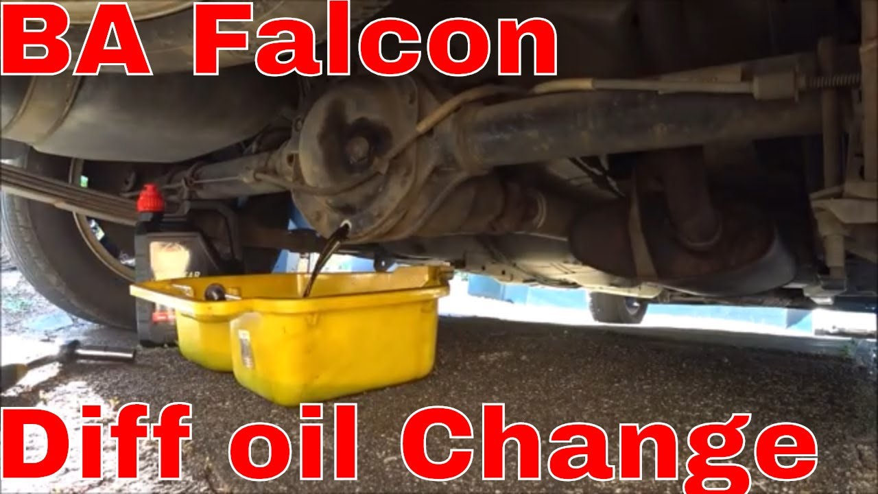BA Falcon - Diff Oil Change
