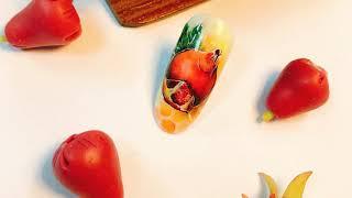 Dạy học nail : Khóa học vẽ hoa quả