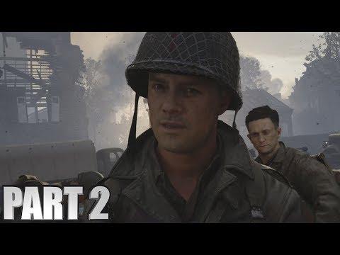CODWW2 Walkthrough Part 2 - Call Of Duty World War 2 PC Gameplay Campaign Mission 2 OPERATION COBRA