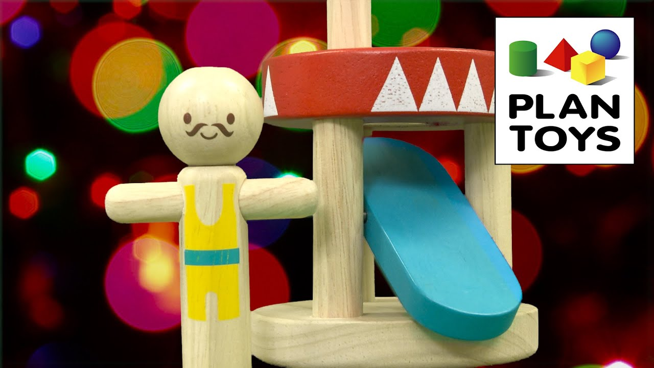 cc0b1fde3 Jumping Acrobat from Plan Toys - YouTube