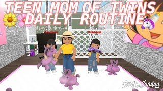 TEEN MOM & TWIN BABYS DAILY ROUNTINE II Roblox Bloxburg