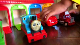 Thomas and Friends Trains Disney Cars Toys Lightning McQueen Percy Tayo the Little Bus