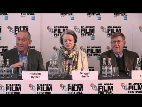 Lady In The Van – BFI LFF  Press Conference Nicholas Hytner,  Maggie Smith, Alex Jennings,
