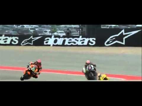 Moto2 USA 2015 - Xavier Simeon Johann Zarco Crash