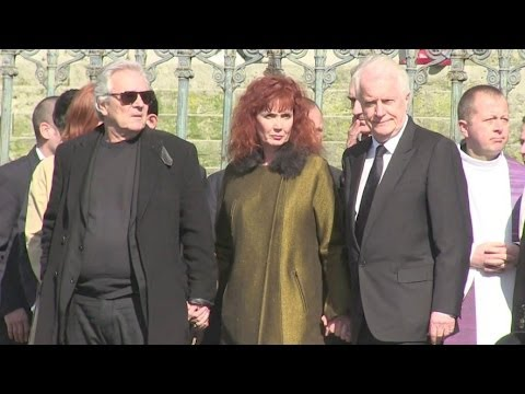 Attendees at the French director Alain Resnais funeral in Paris