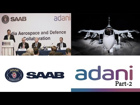 SAAB CEO Hakan Buskhe & Gautam Adani's Joint Press Conference On  Defence Cooperation Part-II
