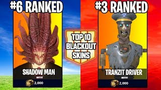 RANKING TOP 10 ZOMBIES SKINS FOR BLACKOUT BATTLE ROYALE! (Call of Duty Black Ops 4)