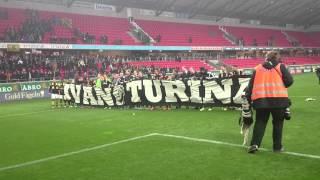 Ivan Turina hyllas efter sista matchen (Kalmar-AIK 1-1)