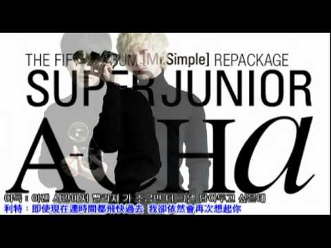 SuperJunior - 안단테 (Andante) 繁體中韓字幕