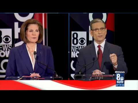 U.S. Senate candidates Catherine Cortez-Masto and Joe Heck d