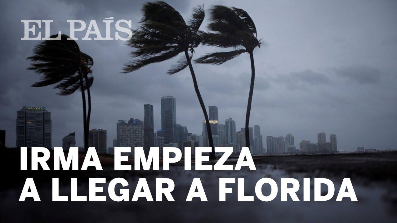 El huracn Irma ya se siente en Florida, donde autoridades ...