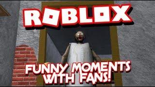 Roblox - Moments drôles avec des fans sur mamie!