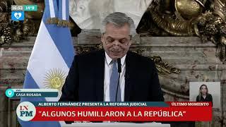 Reforma judicial: Alberto Fernández hace su anuncio completo,