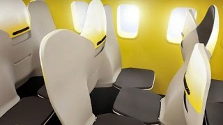 Backwards-facing middle seats on airplanes draw outrage