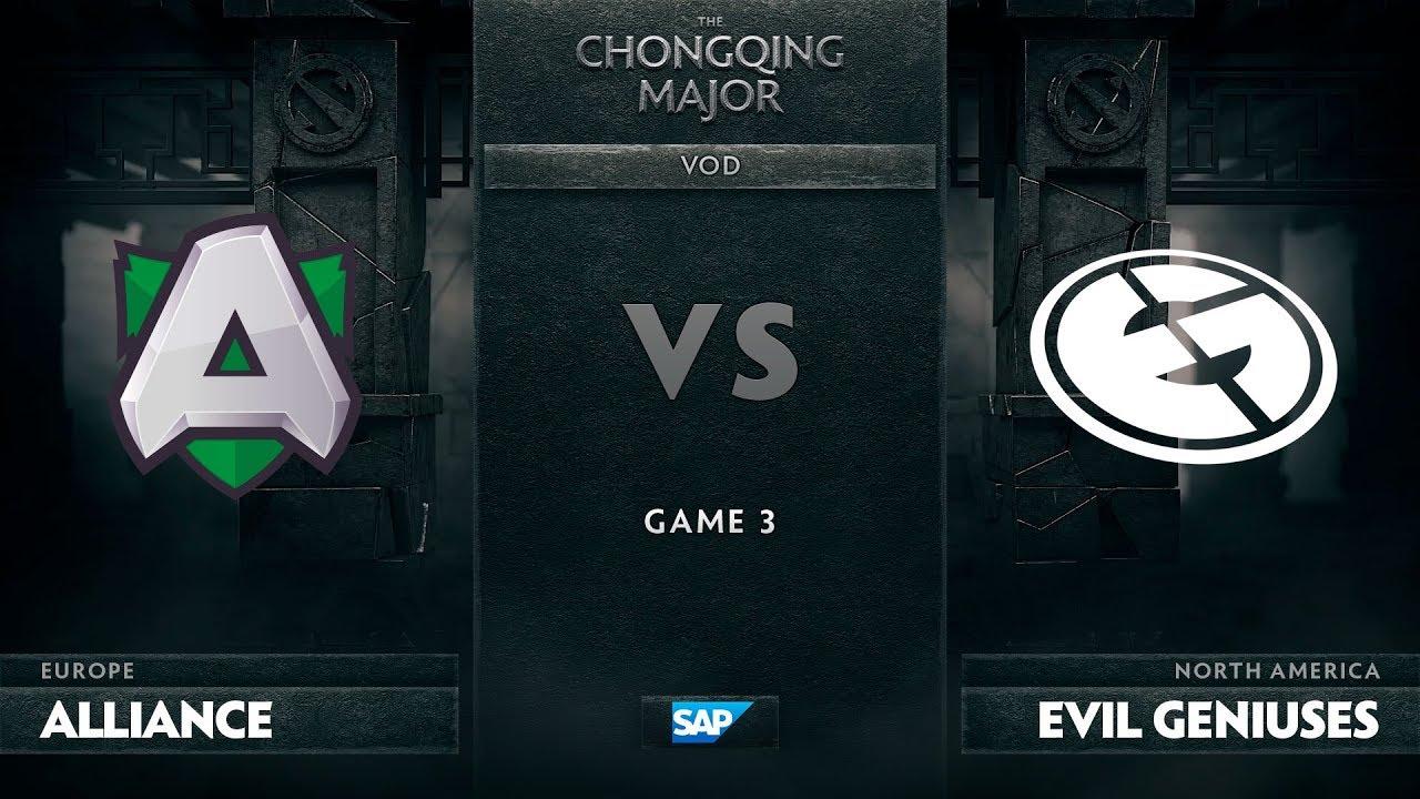 [EN] Alliance vs Evil Geniuses, Game 3, The Chongqing Major Group D