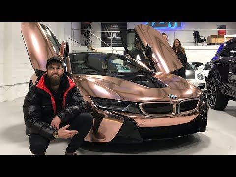 JMX's Rose Gold BMW i8 & CapGun Tom's Crazy Wrap! 3 MILLION SUBS!