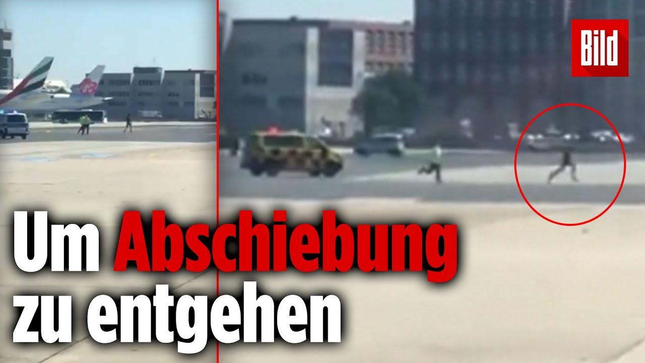 Mann rennt nackt über Frankfurter Flughafen