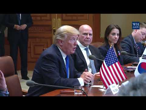 President Trump Participates in an Expanded Bilateral Meeting with President Moon
