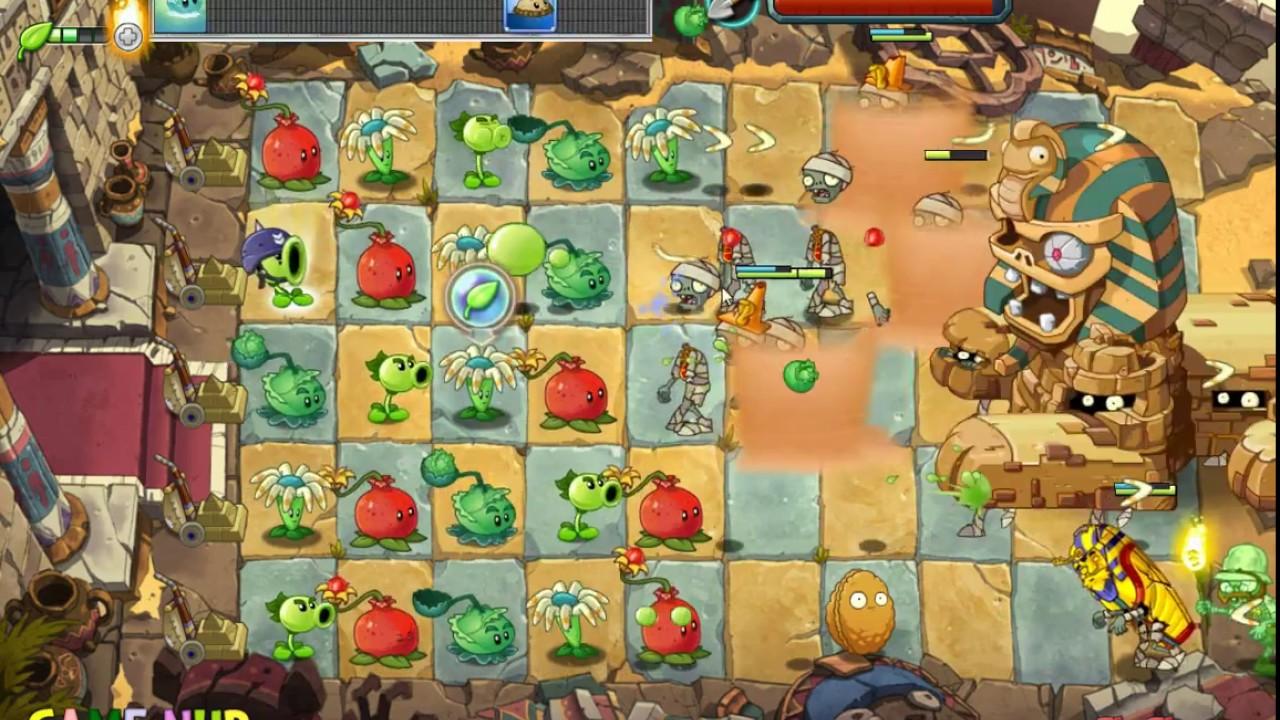 Plants vs Zombies 2 Online QQ - Ancient Egypt Level 10-1