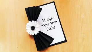 Beautiful Handmade Happy New Year 2020 card idea DIY greeting card idea for new year how to make