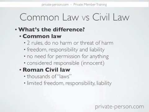 Questions-Common Law vs Civil Law