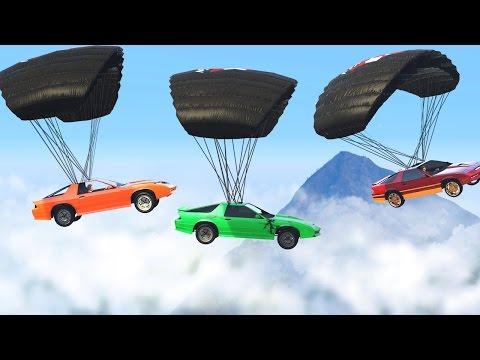 MID-AIR CAR PARACHUTE BATTLE (GTA 5 Free...