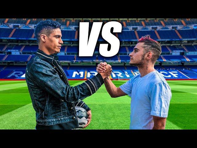 RAPHAEL VARANE VS DELANTERO09 - Retos de Fútbol ft. Real Madrid CF