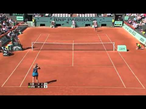 Dominika Cibulkova vs. Maria Sharapova RG 2009 Highlights ...