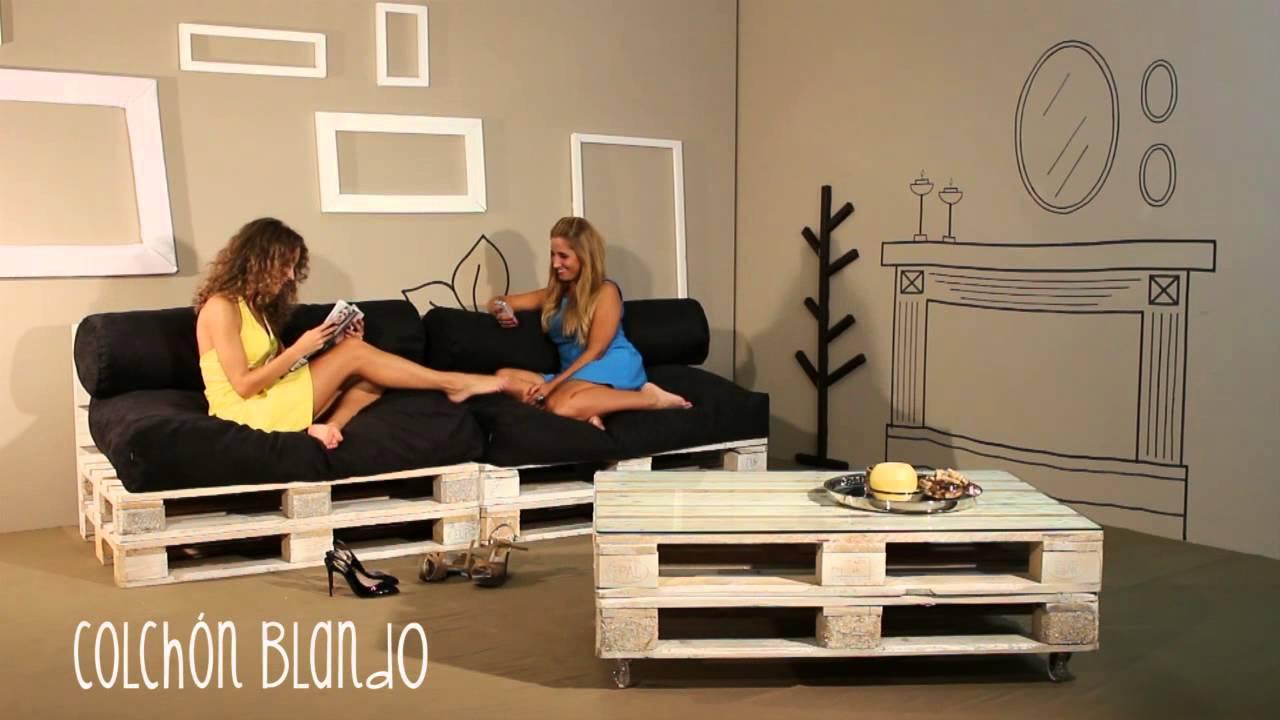 Sillones de palets ocio y descanso con estilo youtube for Sofa de palets exterior