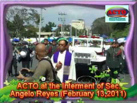 ACTO AT SEC. ANGELO REYES INTERMENT VIDEO