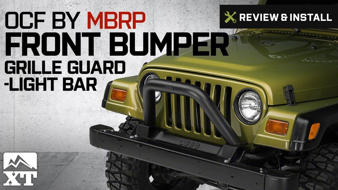 Jeep Brush Guard >> Jeep Wrangler OCF by MBRP Black Front Bumper Grille Guard/Light Bar (1997-2006 TJ) Review ...