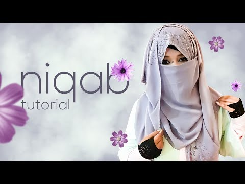 Simple and Easy Niqab Hijab Tutorial For Burka WIth Georgette/Jorjet Scarf | NiqaBee
