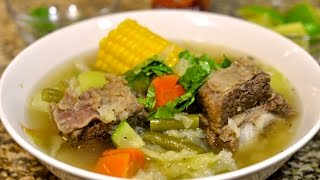 Beef Rib Soup Recipe / Caldo De Costilla De Res