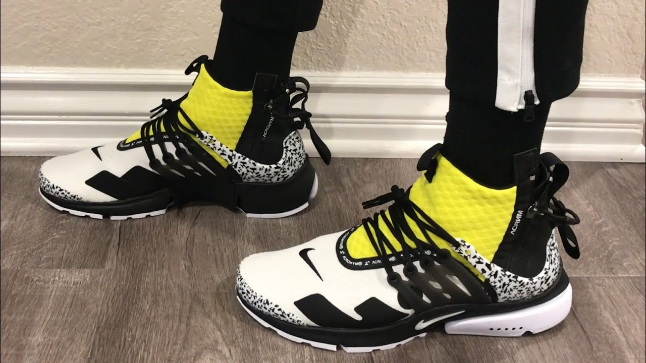 info for 7c74e 15456 Nike Air Presto Mid Acronym Dynamic Yellow Review And On-Feet