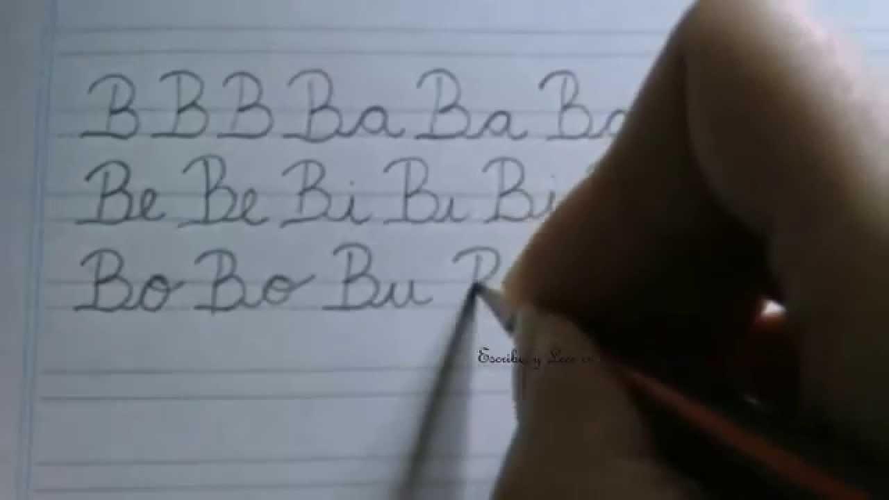 Caligraf a c mo escribir la letra b may scula con las for La b b