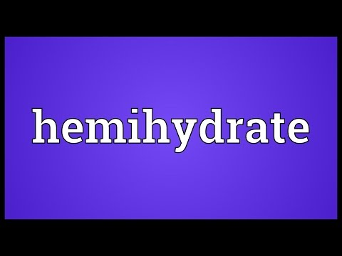 Header of hemihydrate