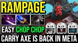 Epic Crazy Axe RAMPAGE With Silver Edge and Scepter Build   WTF Chop Chop Everywhere 25Kills Dota 2