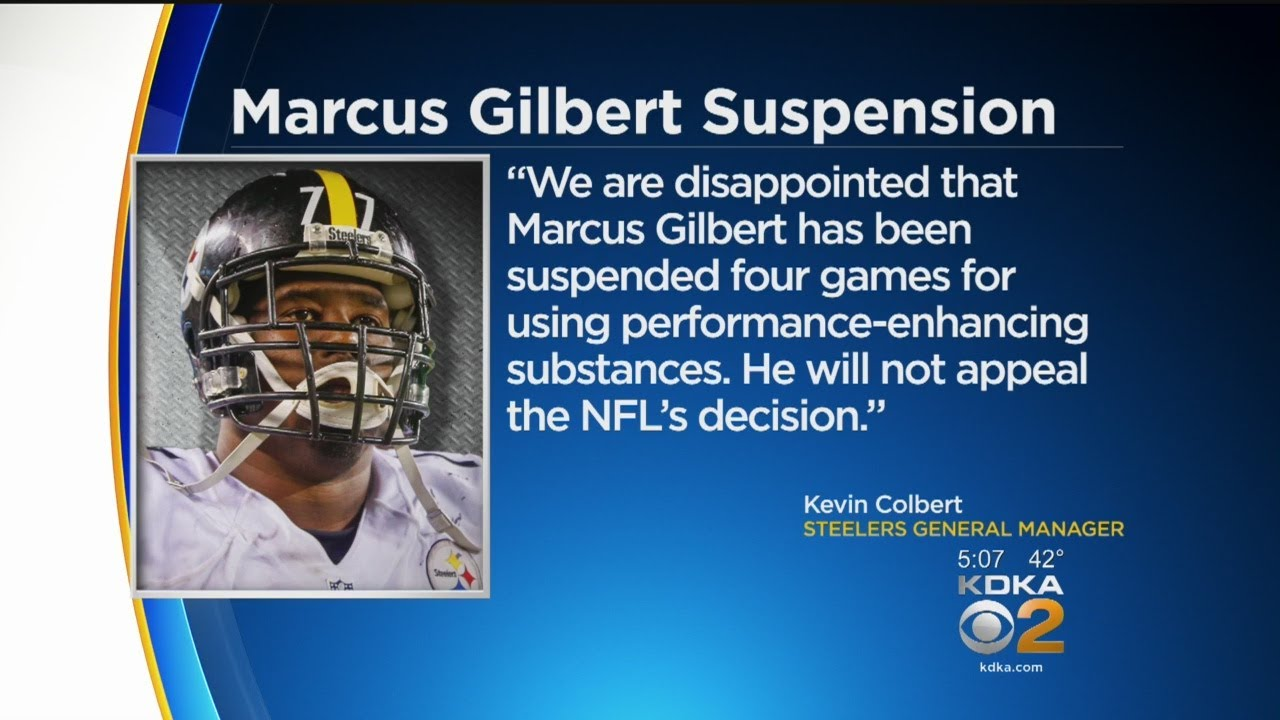 Steelers Marcus Gilbert Suspended 4 Games