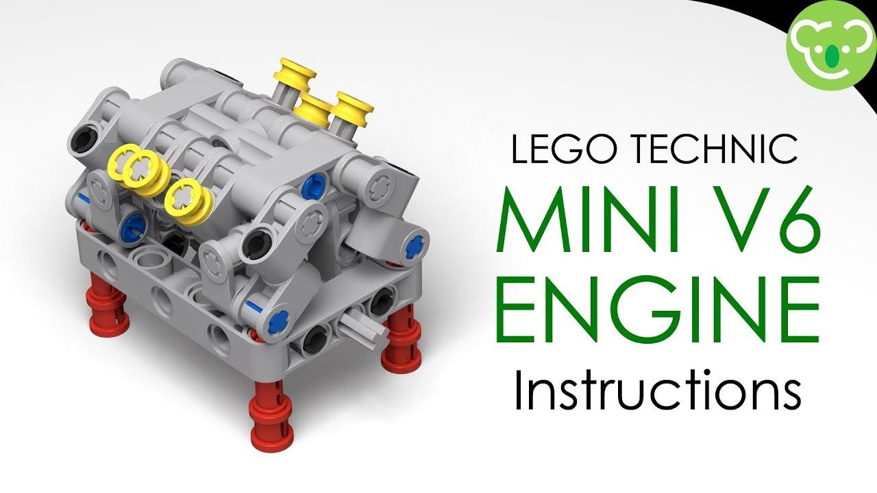 Mini Lego Technic V6 Engine Instructions Youtube