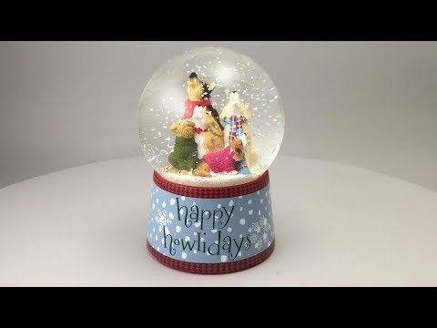 Happy Howlidays Musical Snow Globe