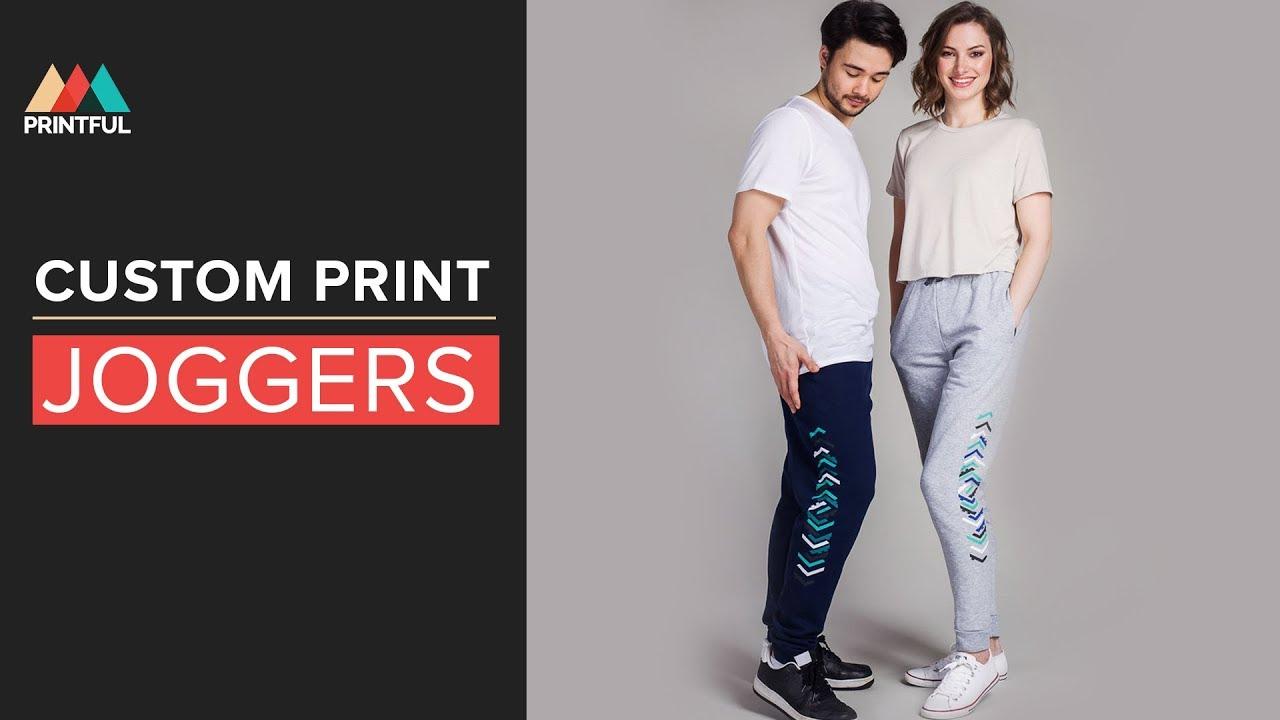 Custom Print Joggers: Printful print on demand