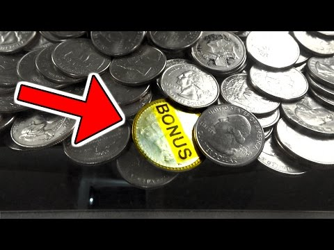 BONUS COIN WIN FROM AN ARCADE COIN PUSHER!