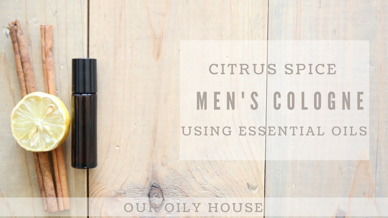 DIY cologne with essential oils