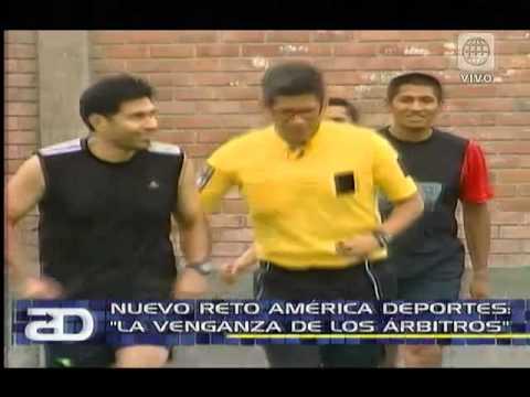 América Noticias: Osores arbitró partido entre réferis peruanos en nuevo reto de América Deportes