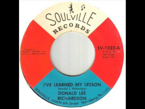 Donald Lee Richardson I've Learned My Lesson