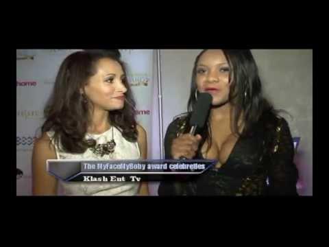 The MyBodyMyFabe Celebrities Red Carpet Award Klash Entertainment Tv host Chanise Thompson