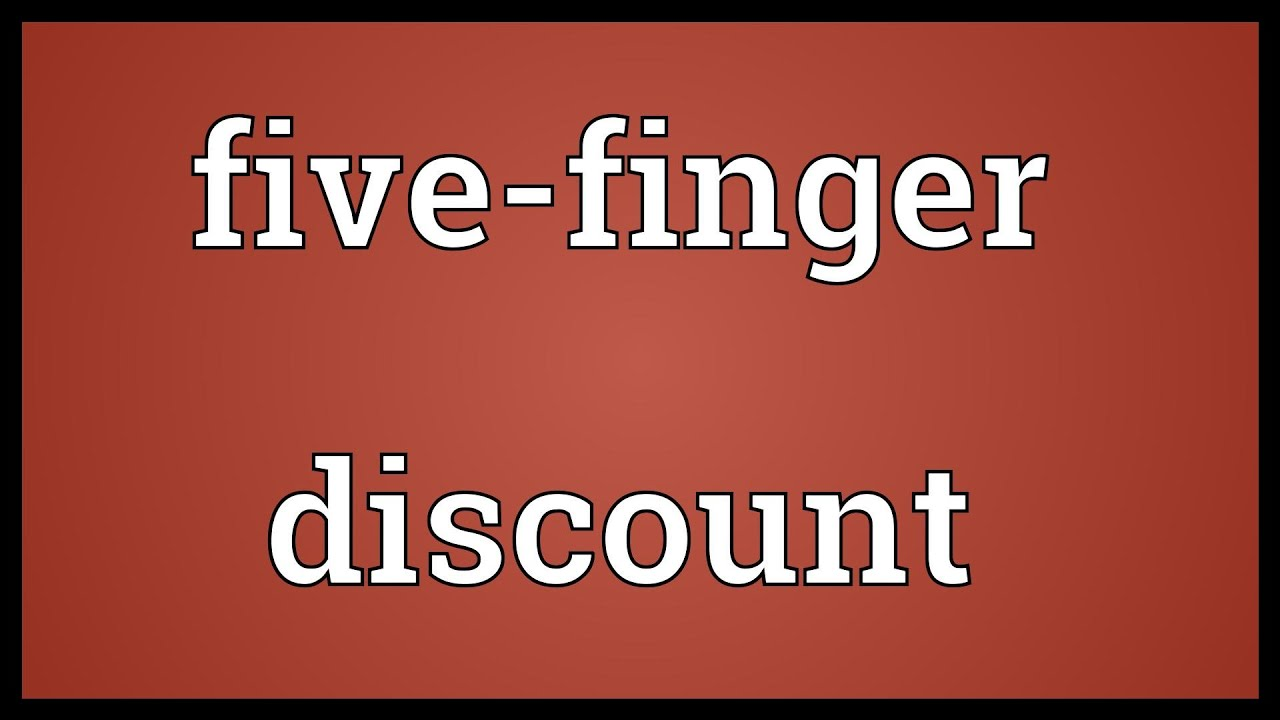 five finger discount essay 5 responses to jy's five finger discount sarah h says: august 1, 2013 at 3:10 pm essays, articles, and blogs about rap, literature, and science.